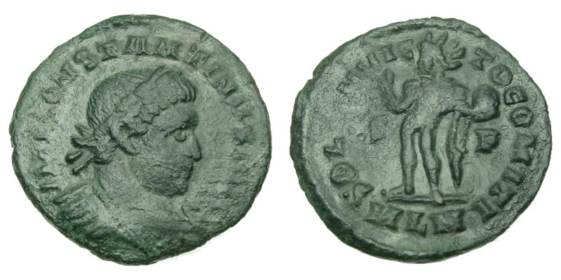 CONSTANTINE I, 316 AD, Copper Follis
