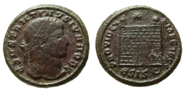 SOLD - CONSTANTINE II, 321 AD - 329 AD, Copper Follis