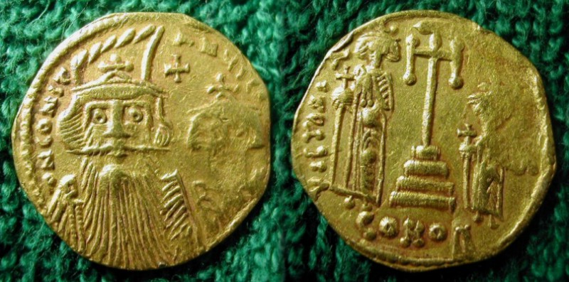 SOLD - Constans II,  661 AD -  663 AD, Gold Solidus