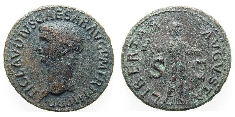SOLD - CLAUDIUS,  42 AD -  42 AD, Copper As