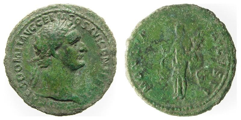 DOMITIAN,  90 AD -  91 AD, Copper As