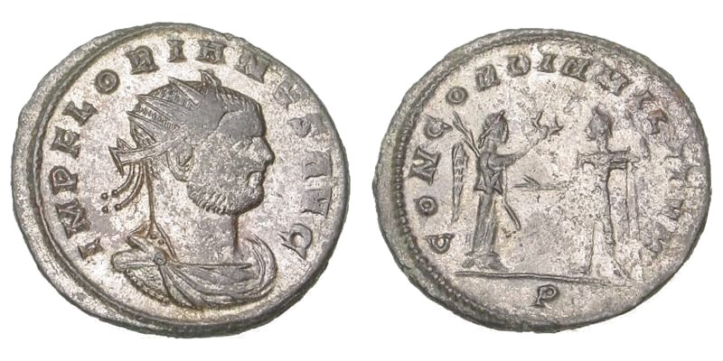 SOLD - FLORIAN, 276 AD, Billon Antoninianus