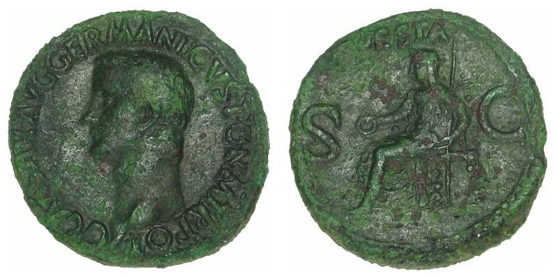 CALIGULA, 37 AD - 38 AD, Copper As
