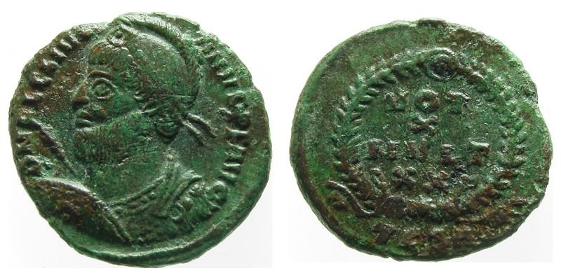 JULIAN II/WREATH, 361 AD - 363 AD, Bronze AE3