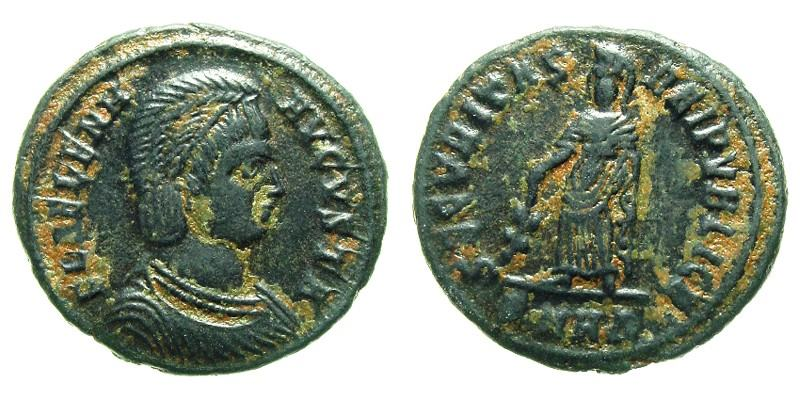 HELENA/SECURITAS, 325 AD - 326 AD, Copper Follis