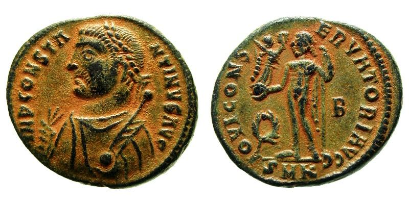 CONSTANTINE I/JUPITER, 317 AD - 320 AD, Copper Follis