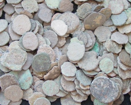 SOLD OUT - 1/2lb Uncleaned Ancient Roman Bronze Cull Coins