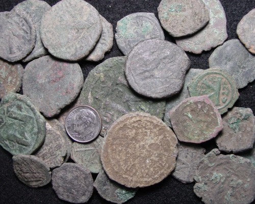 SOLD OUT - Large Uncleaned Byzantine Bronze Follis