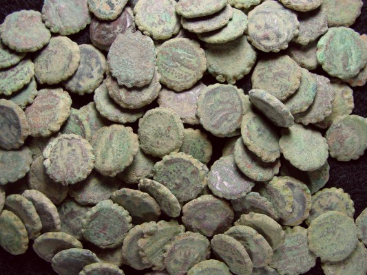 SOLD OUT - SELEUCID Greek Uncleaned Serrated Bronze Coins