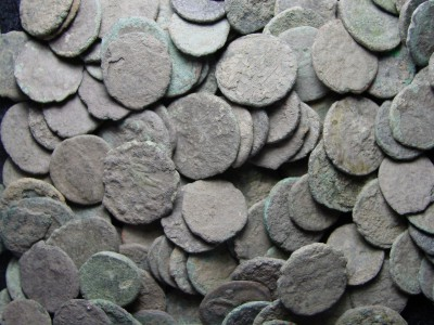 Small AE4 Uncleaned Ancient Roman Bronze Coins